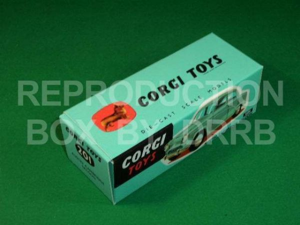 Corgi #201 Austin Cambridge Saloon - Reproduction Box